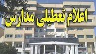 مدارس شهرستانهای جنوبی استان کرمان فردا تعطیل است