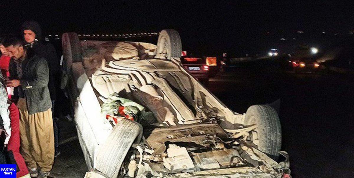 واژگونی پژو در سقز یک کشته و یک زخمی برجای گذاشت