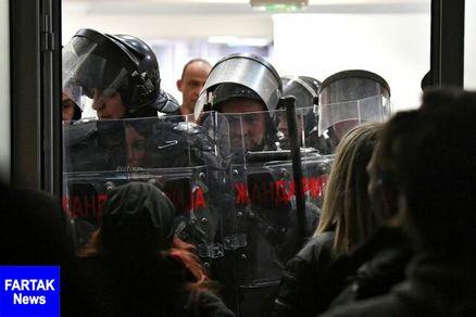 حمله مخالفان دولت صربستان به تلویزیون دولتی این کشور