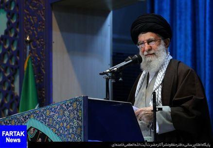 مقام معظم رهبری در نمازجمعه تهران: از مذاکره ابایی نداریم اما نه با آمریکا/در حادثه هواپیما ابهاماتی هست