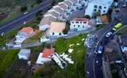 فیلم پهپادها از حادثه مرگبار واژگونی اتوبوس در پرتغال