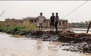 پتروسهای فداکار خوزستانی مانع ورود سیل به مزارع شدند