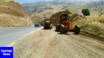 ۱۲۰کیلومتر تیغهزنی در راههای شهرستان روانسر انجام شده است