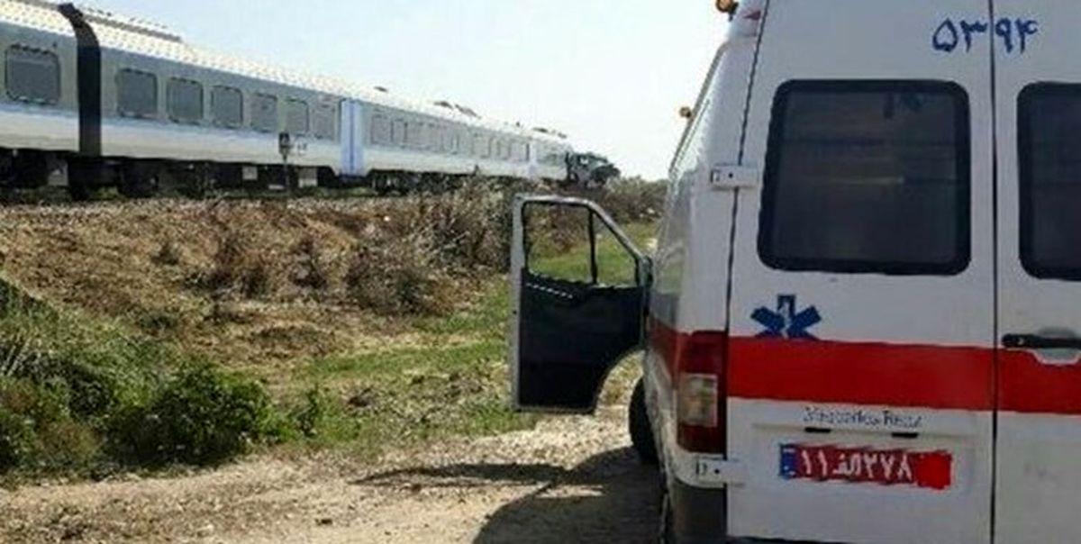 مرگ عابر پیاده بر اثر برخورد قطار