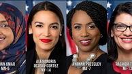 آرایش جنگی زنان رنگین پوست دموکرات علیه ترامپ