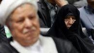 حضور عفت مرعشی، همسر مرحوم آیت الله هاشمی رفسنجانی در راهپیمایی ۲۲ بهمن