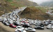 محور کرج - چالوس برای تخلیه بار ترافیکی یک طرفه شد