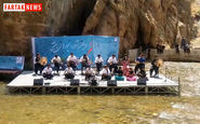 گروه تنبور نوازان سرانه به سرپرستی کیوان قلخانی در اولین جشنواره میوه های بهشتی + فیلم