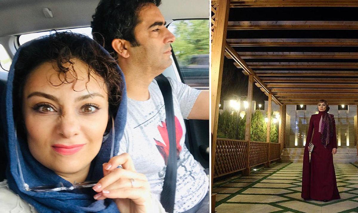 شیطنتهای یکتا ناصر در کنار منوچهر هادی داخل خودرو شخصی+عکس