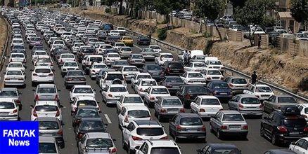 ترافیک سنگین شبانه در محورهای شمال