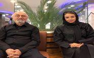 شبنم قلی خانی در کنار استادش + عکس