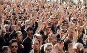دسته عزاداری حسینیه زنجان به حرکت درآمد