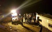 واژگونی اتوبوس مسافربری در محور زاهدان - کرمان با 9 کشته و مصدوم