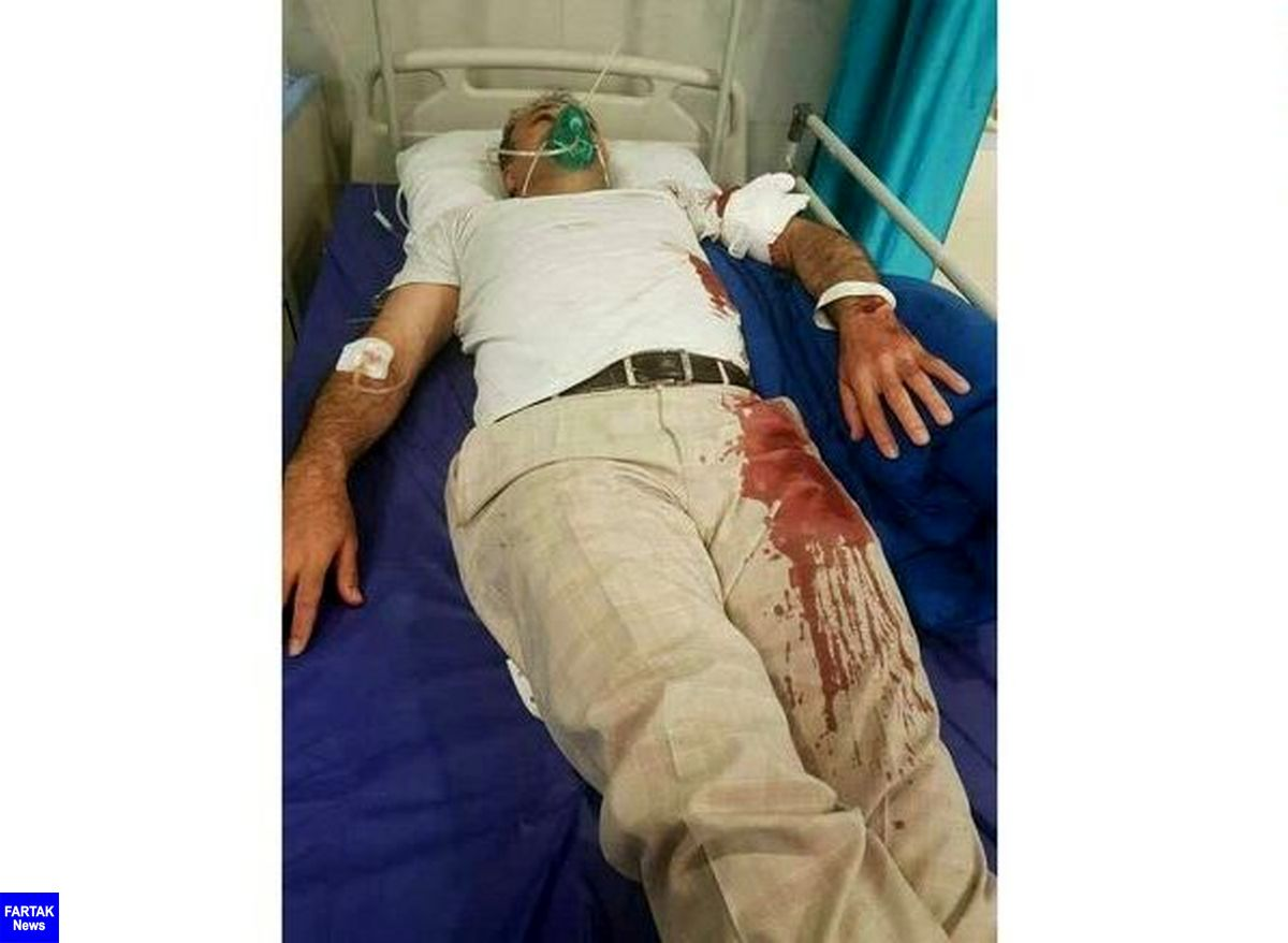 حمله خونین با قمه به رئیس شورای شهر بومهن + عکس