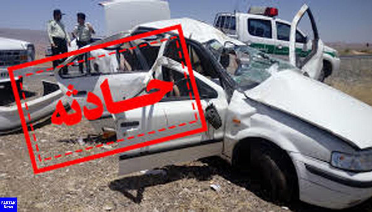 سانحه رانندگی در میانه پنج مصدوم برجای گذاشت