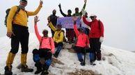 صعود کوهنوردان کرمانشاهی بر بام هفت قله در هفت روز
