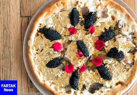 فروش پیتزا با روکش طلا در اصفهان برای جذب مشتری بود