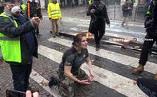 ویدئویی تکاندهنده از تظاهرات پاریس+زیرنویس فارسی