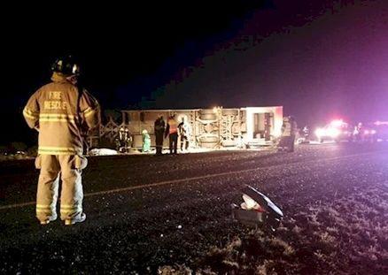 13 کشته در تصادف اتوبوس