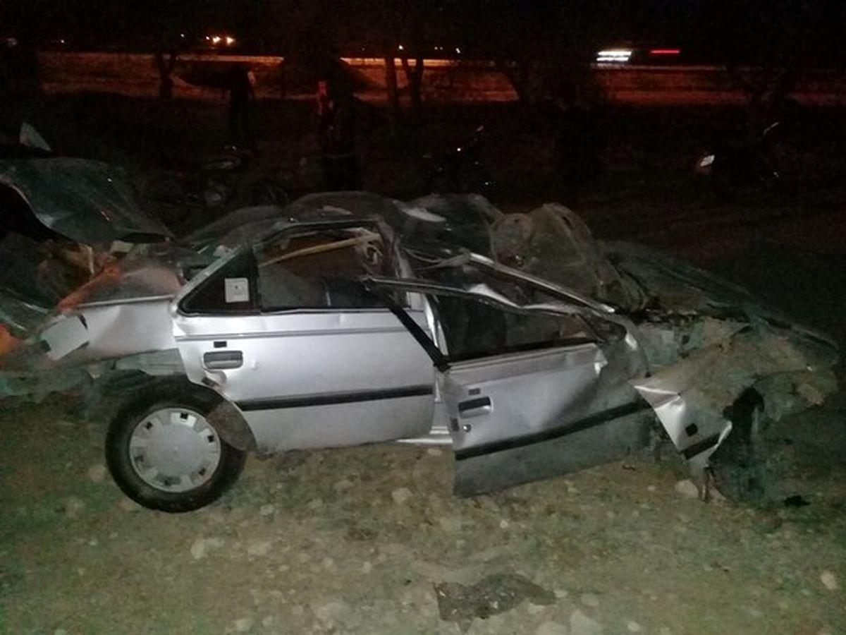 4 کشته در واژگونی مرگبار پژو