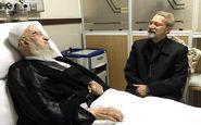 رئیس مجلس از آیتالله مکارم شیرازی عیادت کرد