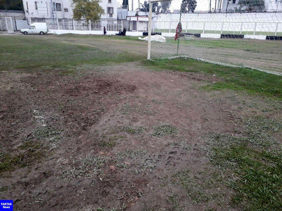 وضعیت اسفناک چمن ورزشگاه هفت تیر بابل!