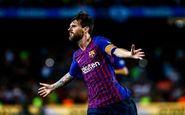 رکورد جدید برای بارسلونا در لالیگا با گلزنی مسی